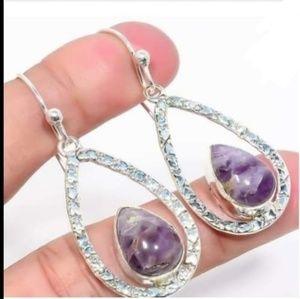 handmade Jewelry - Sterling Amethyst Earrings